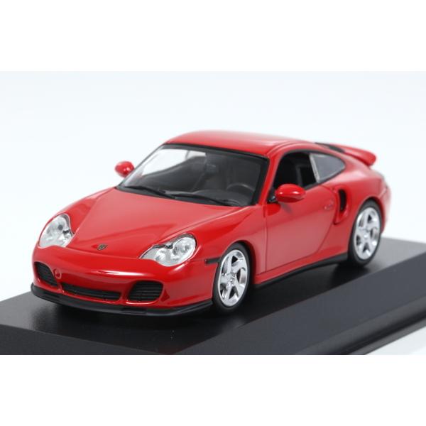 【ミニチャンプス】 1/43 ポルシェ 911 ターボ (996) 1999 レッド ※MAXICHAMPSシリーズ