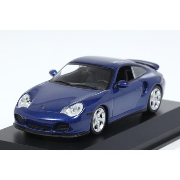 【ミニチャンプス】 1/43 ポルシェ 911 ターボ (996) 1999 ブルーメタリック ※MAXICHAMPSシリーズ