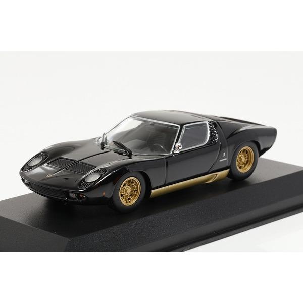 【ミニチャンプス】 1/43 ランボルギーニ ミウラ (1966) ブラック ※MAXICHAMPS シリーズ