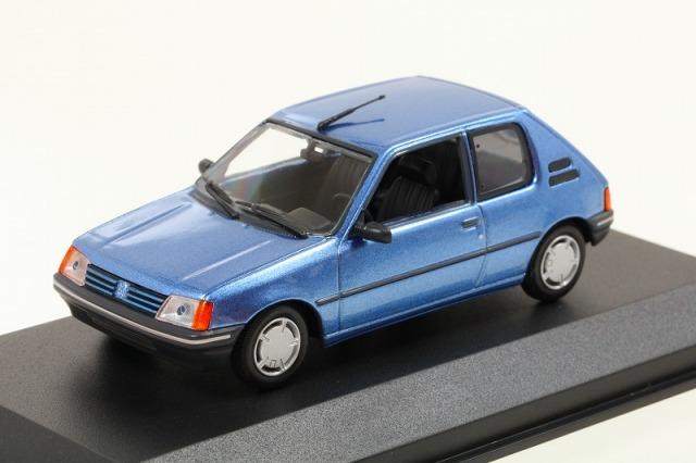 MINICHAMPS 1/43 プジョー 205 1990 ブルーメタリック  MAXICHAMPSシリーズ