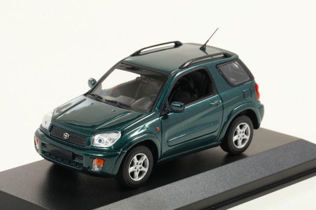 MINICHAMPS 1/43 トヨタ RAV 4 2000 ダークグリーンメタリック ※MAXICHAMPSシリーズ