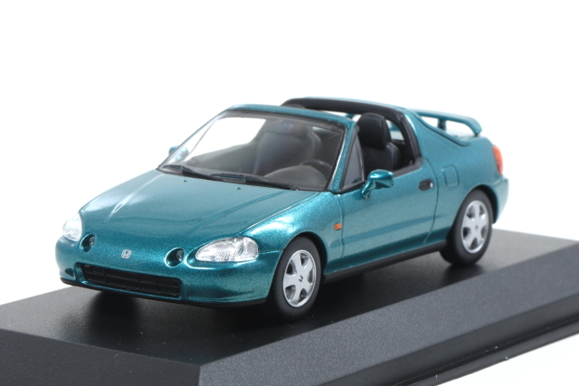 MAXICHAMPS 1/43 Honda CR-X del Sol 1992 green metallic