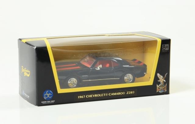 LUCKY DIE CAST 1/43 シボレー カマロ Z-28 1967 ブラック/レッド