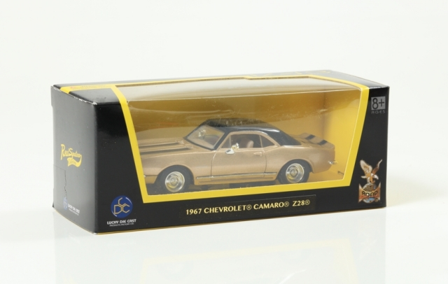 LUCKY DIE CAST 1/43 シボレー カマロ Z-28 1967 Gold/Blackライン