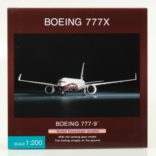 全日空商事 1/200 BOEING 777-9X BOEING ハウスカラー 地上折りたたみ翼 完成品ソリッド(ギア付)