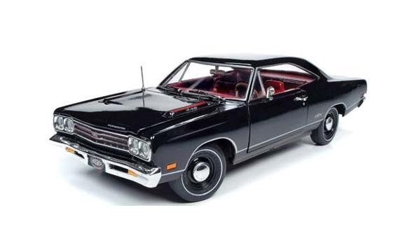 <予約> [AmericanMuscle] 1/18 1969 プリムス GTX ハードトップ(MCACN) X9 ブラックベルベット