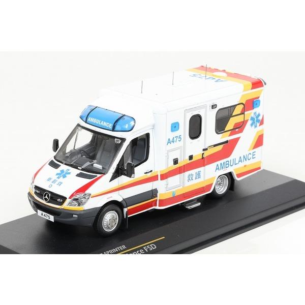 【TINY】 1/43 メルセデスベンツ スプリンター 香港 救急車