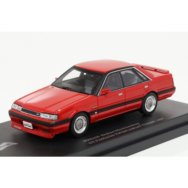 【CAM@】 1/43 日産 スカイライン R31 4ドア ハードトップ GT パサージュ ツインカム 24V ターボ 1987 BBS仕様 スーパーレッド