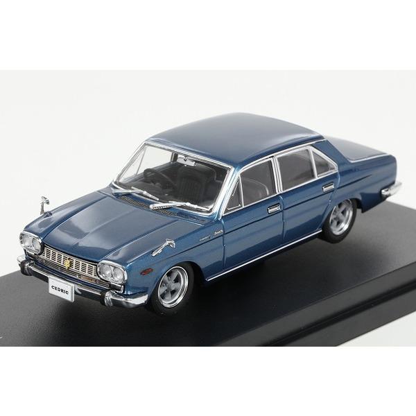 【CAM@】 1/43 日産 セドリック カスタム(130型)1965年  5本スポークホイール ブルーメタリック