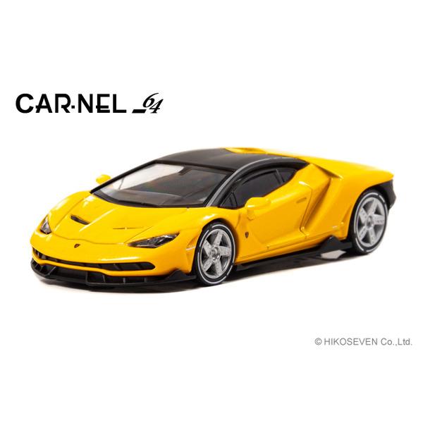 【CARNEL】 1/64 Lamborghini Centenario (Yellow Pearl) 限定999台