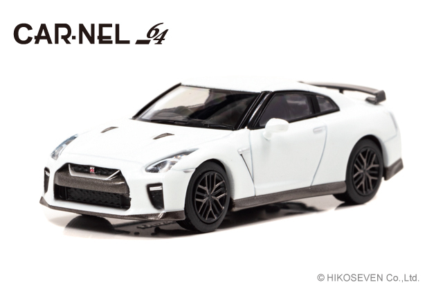 "CARNEL 1/64 日産 GT-R ""Limited of 50 units Special Edition"" (R35) 2019 Brilliant White Pearl *限定777台"