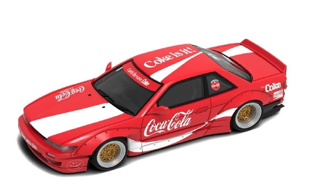 <予約 6月発売予定> INNO 1/64 Nissan シルビア S13 ROCKET BUNNY V2 Coca-Cola (香港限定)