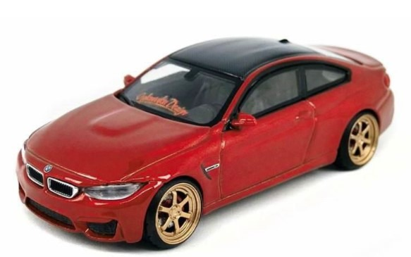 D MODEL 1/64 BMW M4 サキールオレンジ w/Copper Wheel