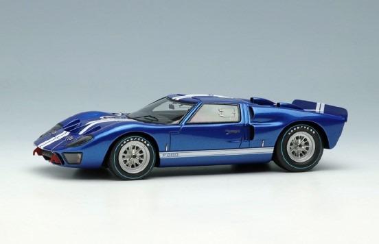 <予約 2021/3月発売予定> EIDOLON 1/43 GT40 Mk.2 ストリートバージョン1966 メタリックブルー/ホワイトストライプ