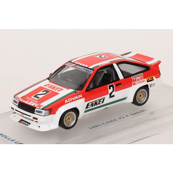 【ENIF】 1/43 トヨタ カローラ レビン N2 ENKEI カローラ 1985 カローラ/スプリンター グランドカップ #2 鈴木恵一