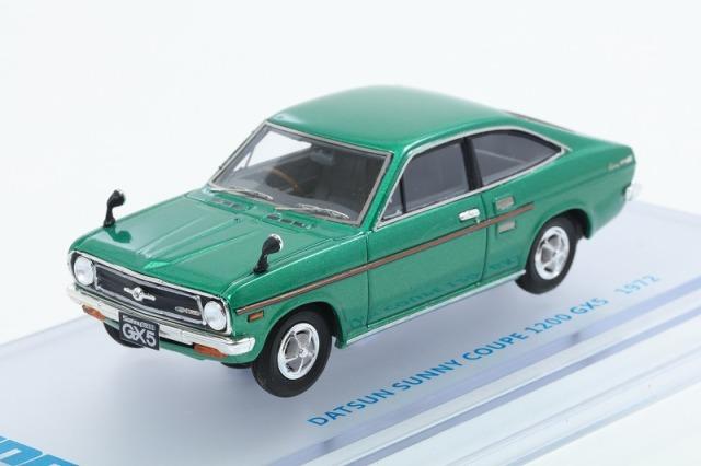 ENIF 1/43 日産 サニー 1200 GX5 クーペ 1972年型 グリーンメタリック