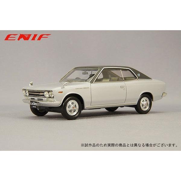 ENIF 1/43 日産 ローレル 2000GX 2ドア ハードトップ 1970年型 グランドシルバー レザートップ仕様