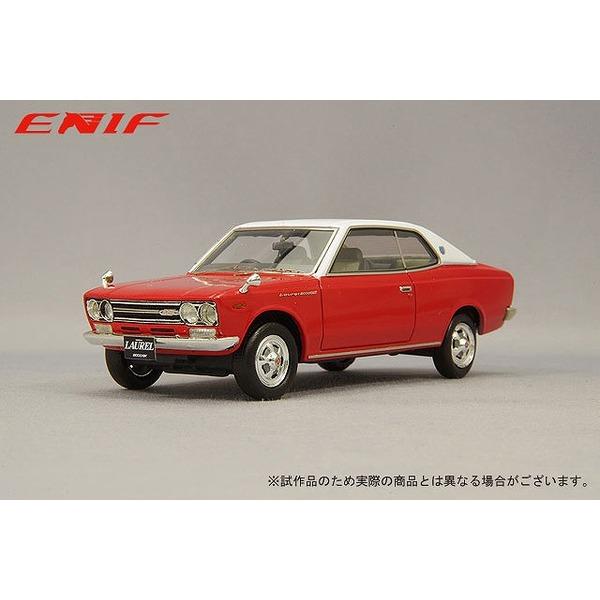 ENIF 1/43 日産 ローレル 2000GX 2ドア ハードトップ 1970年型 バイタルレッド レザートップ仕様