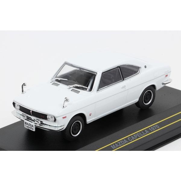 【ファースト43】 1/43 マツダ カペラ 1970 (ホワイト) ※リニューアルVer