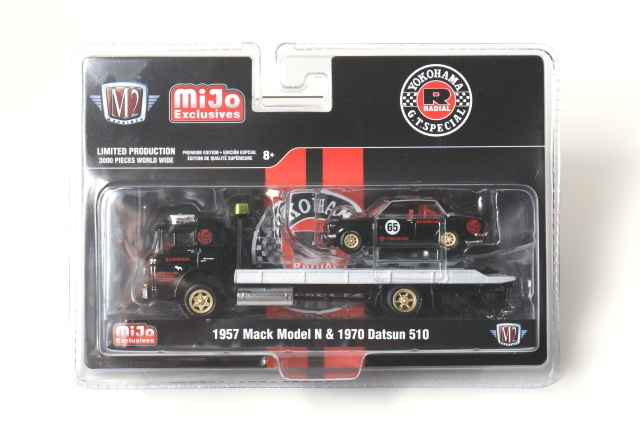 M2 1/64 1957 Mack Model N & 1970 Datsun 510 Mijo特注