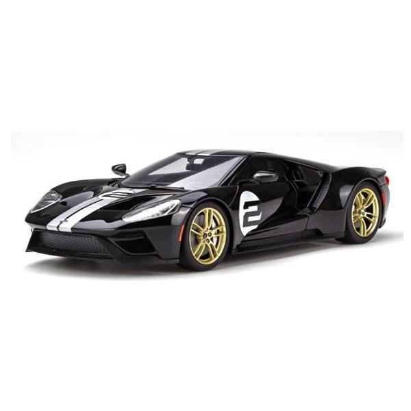 【GT スピリット】 1/18 フォード GT(ブラック/シルバーストライプ) 世界限定:750個