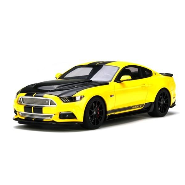 【GTスピリット】 1/18 フォード マスタング シェルビー GT (イエロー/ブラックストライプ)世界限定:750個 ※USA限定モデル