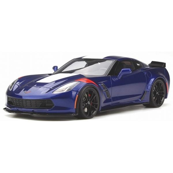【GT SPIRIT】 1/18 シボレー コルベット グランスポーツ  (ブルー/レッドストライプ) ※USA特注