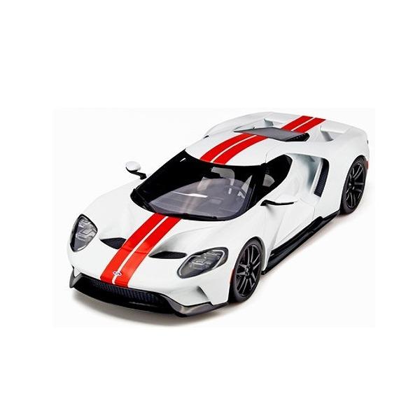 【GT SPIRIT】 1/18 フォード GT(ホワイト/レッドストライプ) 世界限定数:1,500個