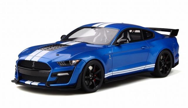 GT SPIRIT 1/18 フォード シェルビー GT500 2020  (ブルー/ストライプ)