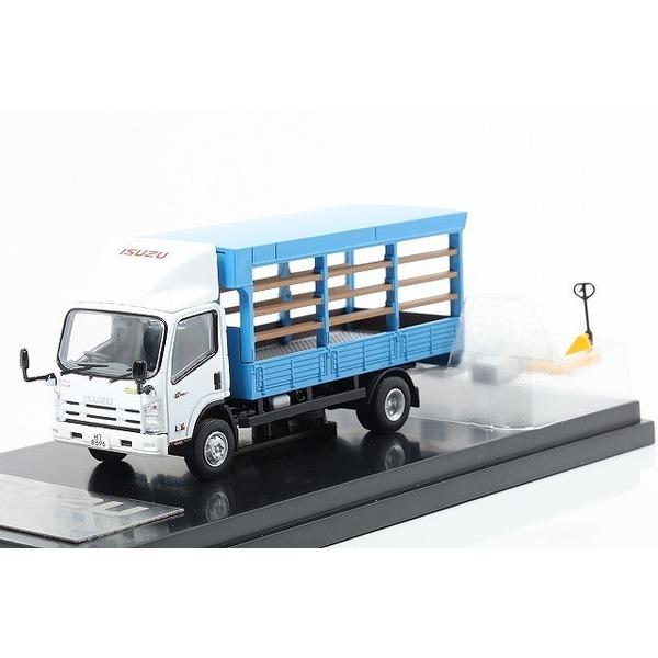 【REALSOC】 1/64 いすゞ NQR75 トラック マーケット トラック ジャッキ付