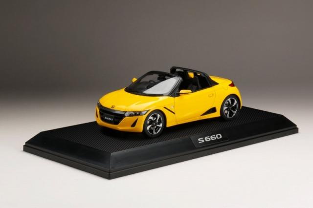 <予約 2022/3月発売予定> HobbyJapan 1/18 Honda S660 α カーニバルイエローII