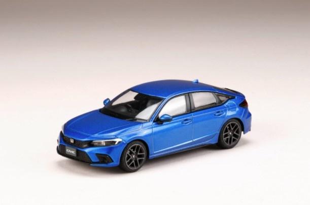 HJ43 1/43 Honda CIVIC 2021 プレミアムクリスタルブルーメタリック