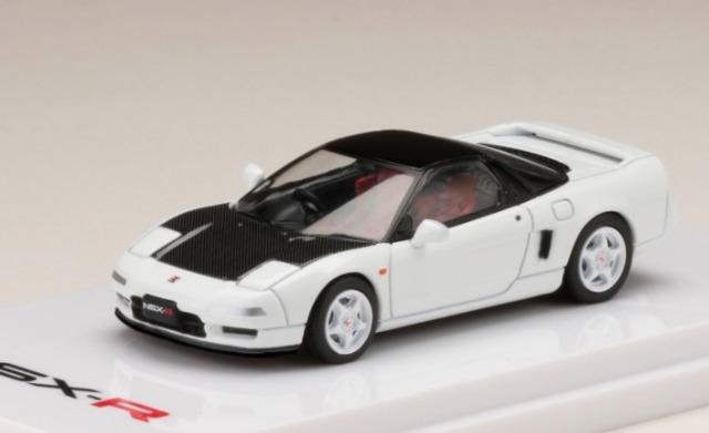 HobbyJapan 1/64 ホンダ NSX NA1 Type R 1992 チャンピオンシップホワイト / カーボンフロントカウル