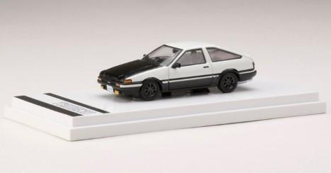 Hobby JAPAN 1/64 Toyota SPRINTER TRUENO GT APEX (AE86) Customized Ver. / Carbon Bonnet (白/黒)