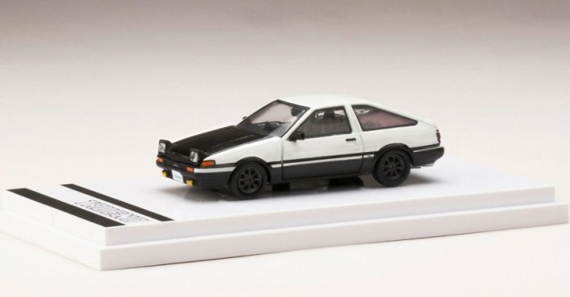 Hobby JAPAN 1/64 Toyota SPRINTER TRUENO GT APEX (AE86) Customized Ver. / Carbon Bonnet Opened Headlight (白/黒)