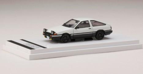Hobby JAPAN 1/64 Toyota SPRINTER TRUENO GT APEX (AE86) Opened Retractable Headlight (白/黒)