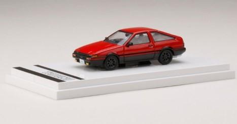 Hobby JAPAN 1/64 Toyota SPRINTER TRUENO GT APEX (AE86) Customized Ver. (赤/黒)