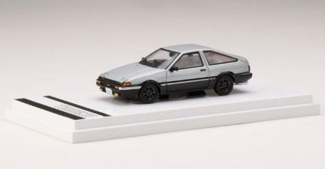 Hobby JAPAN 1/64 Toyota SPRINTER TRUENO GT APEX (AE86) Customized Ver. (銀/黒)