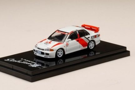 HobbyJAPAN 1/64 Mitsubishi Lancer GSR Evolution III (CE9A) Scotia White with Rally Decal
