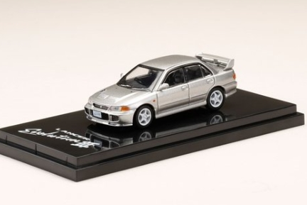 HobbyJAPAN 1/64 Mitsubishi Lancer GSR Evolution III (CE9A) Queens Silver