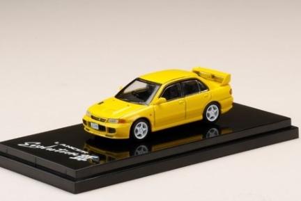 HobbyJAPAN 1/64 Mitsubishi Lancer GSR Evolution III (CE9A) Dandelion Yellow