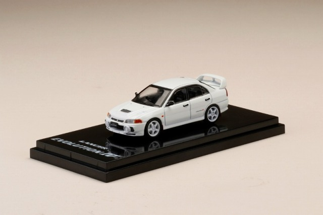 Hobby JAPAN 1/64 Mitsubishi Lancer RS Evolution IV (CN9A) Scortia White