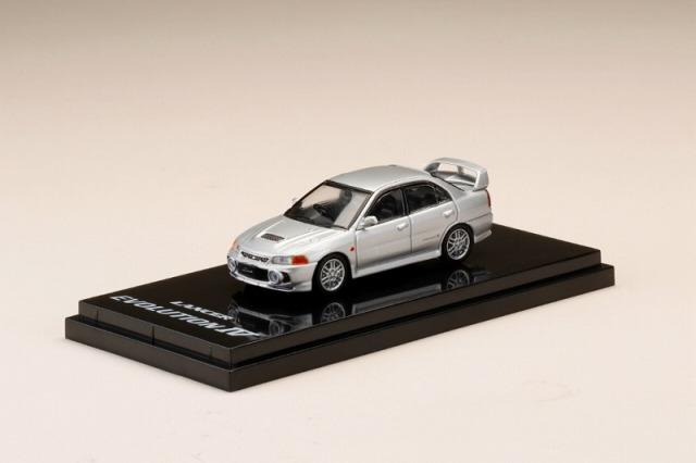 Hobby JAPAN 1/64 Mitsubishi Lancer GSR Evolution IV (CN9A) Steel Silver