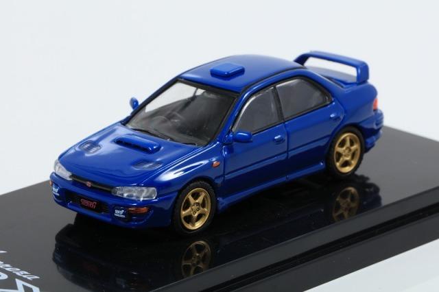 HobbyJapan 1/64 スバル インプレッサ WRX GC8 STi Version II スポーツブルー