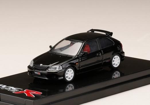 HobbyJAPAN 1/64 Honda CIVIC TypeR (EK9) 2000 Starlight Black Pearl