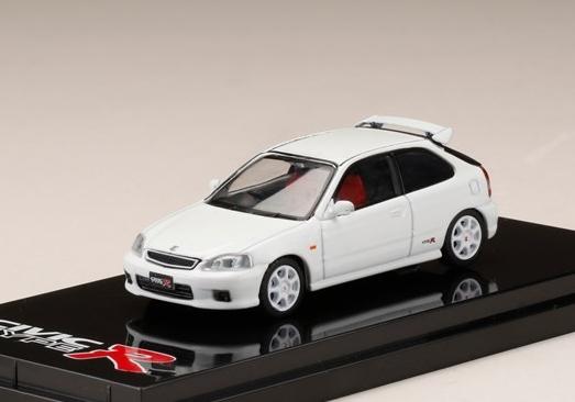 HobbyJAPAN 1/64 Honda CIVIC TypeR (EK9) 2000 Championship White
