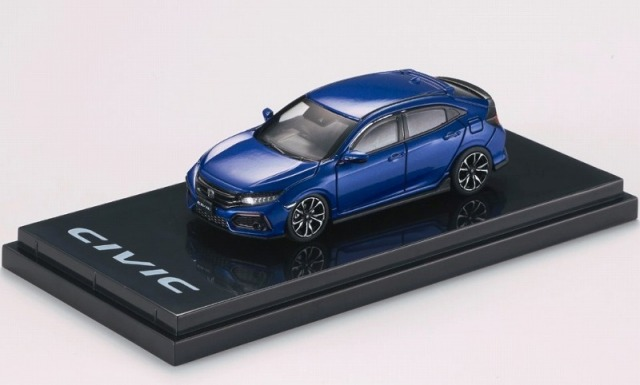 HobbyJapan 1/64 Honda CIVIC Hatchback (FK7) Brillinat Sporty Blue Metallic