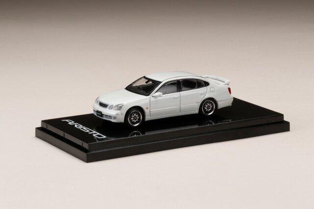 <予約 7月以降発売予定> HobbyJapan 1/64 トヨタアリストV300  VERTEX EDITION カスタムバージョン ホワイトパールクリスタルシャイン