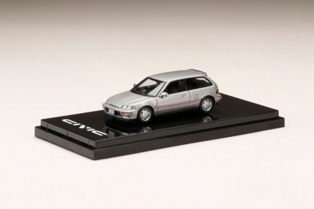 HobbyJapan 1/64 Honda CIVIC (EF9) SiR II Gray Metallic