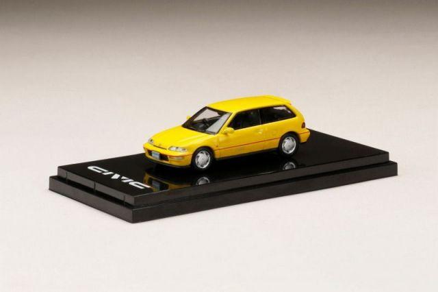 HobbyJapan 1/64 Honda CIVIC (EF9) SiR II YELLOW